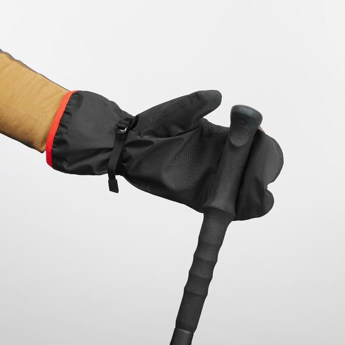 Sur-gants trekking montagne TREK 500 imperméable adulte noir