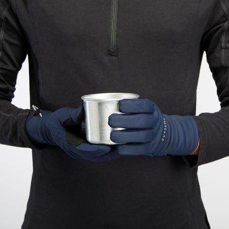 Adult Stretch Mountain Trekking Gloves - TREK 500 Blue