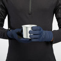 Adult Breathable Mountain Trekking Gloves - TREK 500 - Blue