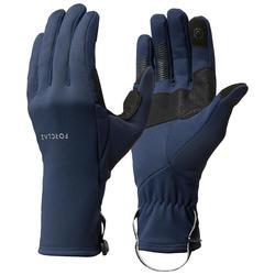 Guantes Térmicos Táctiles de Montaña y Trekking Adulto Forclaz Trek 500 Azul