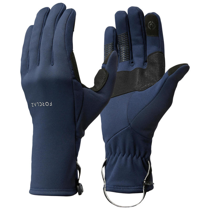 Luvas de Trekking na Montanha Extensíveis - TREK 500 Adulto - Azul