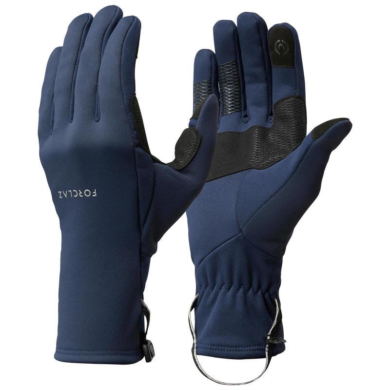 Stretch handschoenen voor bergtrekking volwassenen Trek 500 blauw