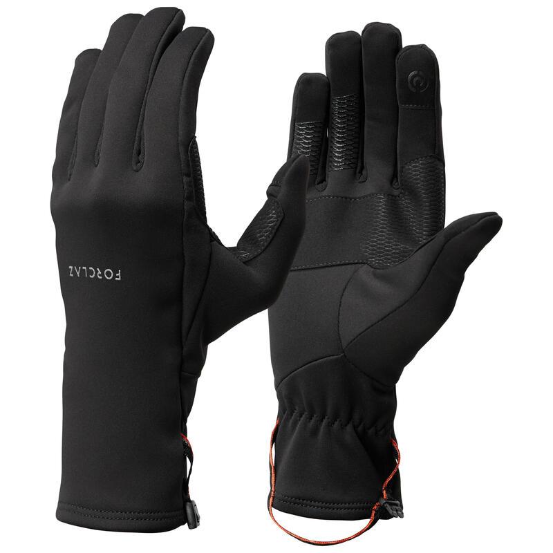 Stretch handschoenen voor bergtrekking volwassenen Trek 500 zwart