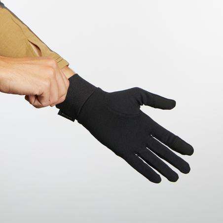 Sous-gants en soie de randonnée en montagne Trek 500 - Adultes