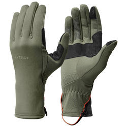 Gants de trek montagne respirants - TREK 500 kaki - adulte