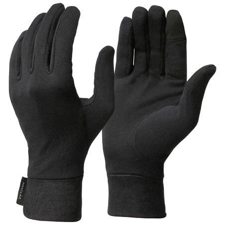 Trek 500 Hiking Silk Liner Gloves - Adults