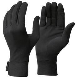 Sous-gants 100% soie de trek montagne - TREK 500 noir - adulte