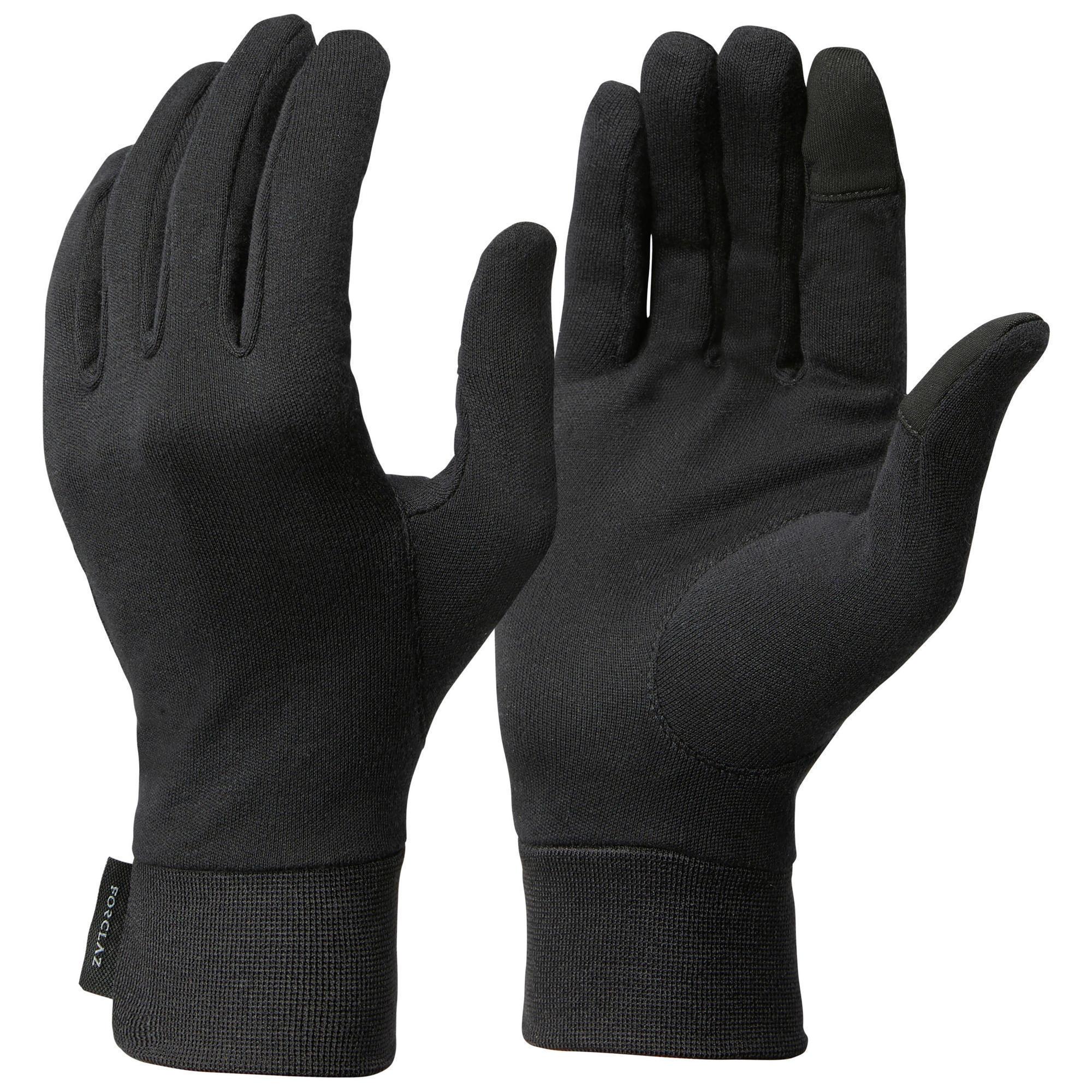 Unterziehhandschuhe Bergtrekking Trek 500 100% Seide Erwachsene | Accessoires > Handschuhe | Forclaz