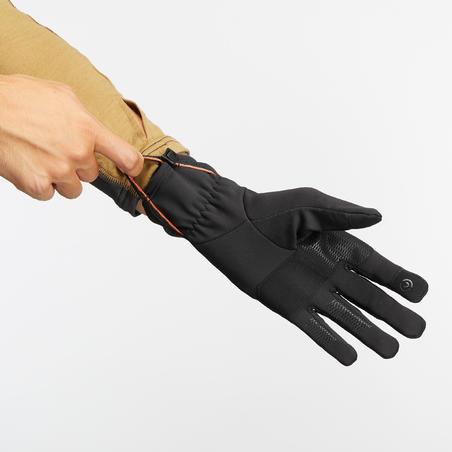 Adult Mountain Trekking Stretch Gloves Trek 500 - black
