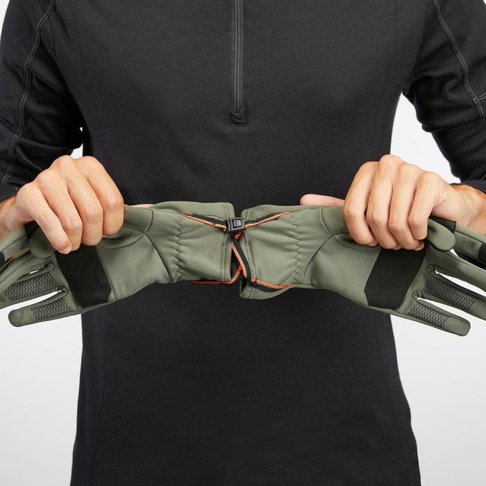 Ademende handschoenen voor bergtrekking volwassenen Trek 500 kaki