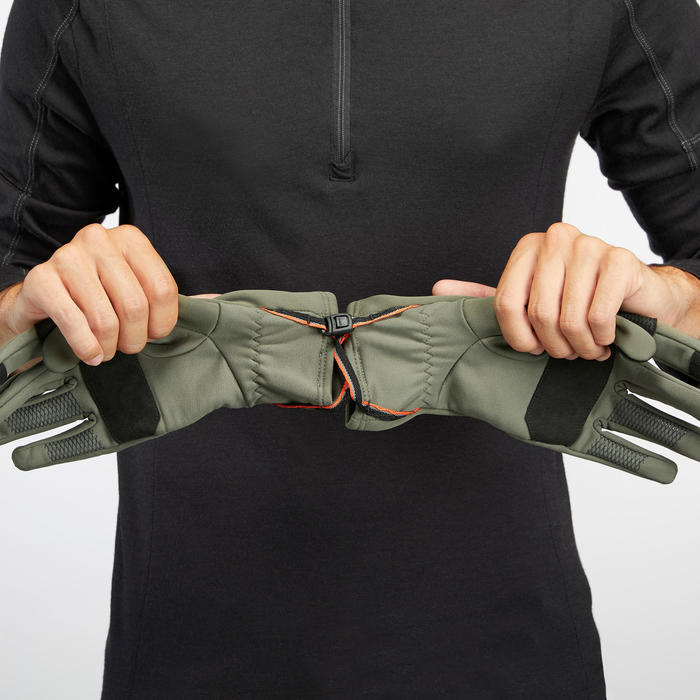 Gants de trek montagne respirants - TREK 500 kaki - adulte