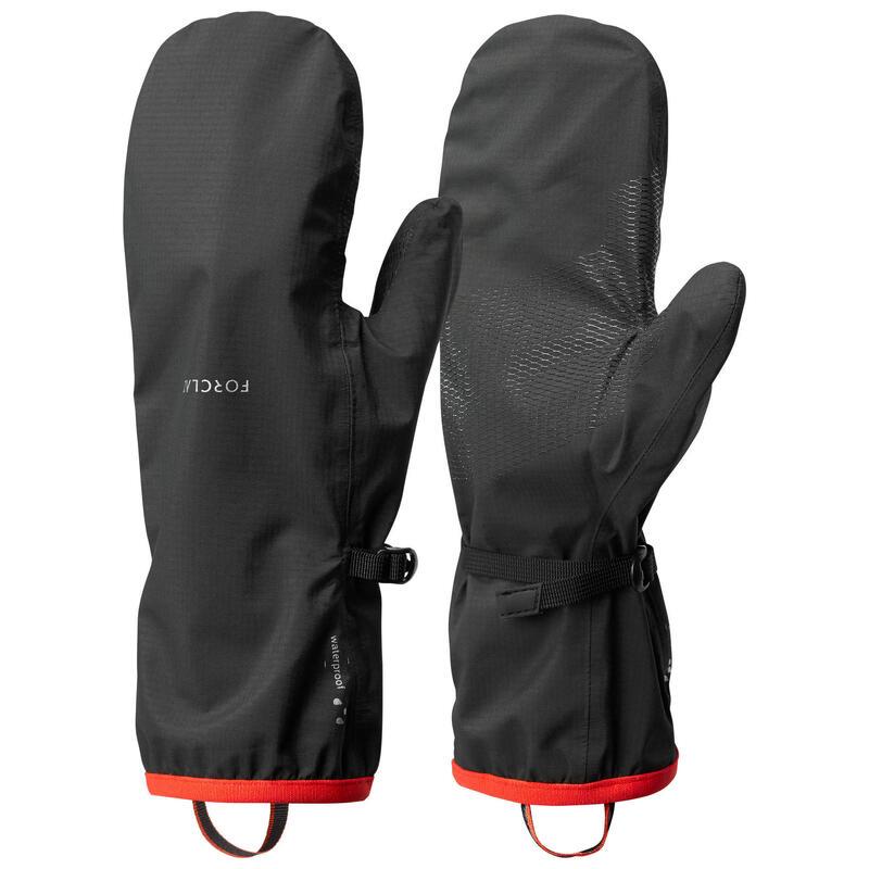 Sur-gants de trekking montagne - TREK 500 imperméables noir - adulte