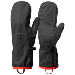 Adult Mountain Trekking Waterproof Over-Gloves Trek 500 - black