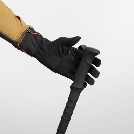 Adult Breathable Mountain Trekking Gloves - TREK 500 - Black