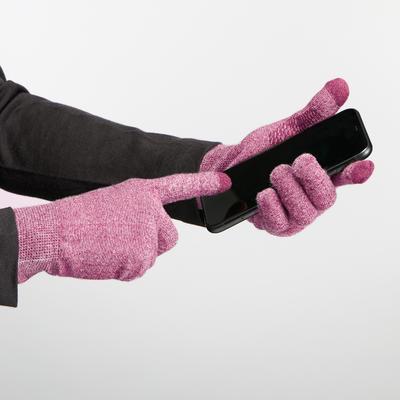 Unisex Mountain Trekking Touchscreen-Compatible Liner Gloves Trek 500 - purple