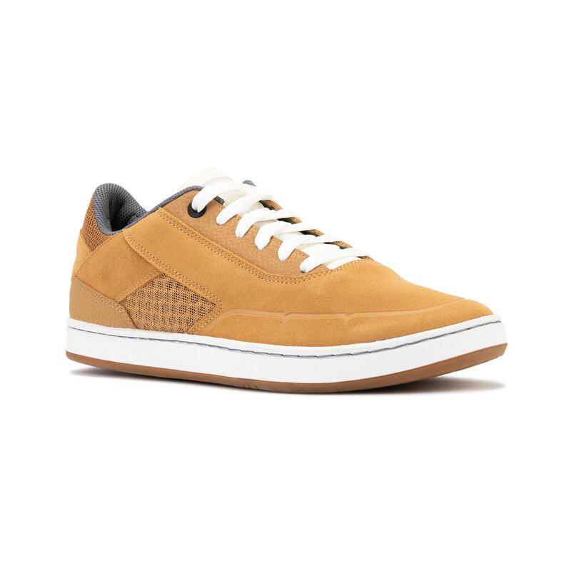 Chaussures basses (cupsoles) de skateboard adulte CRUSH 500 ocre / Blanc