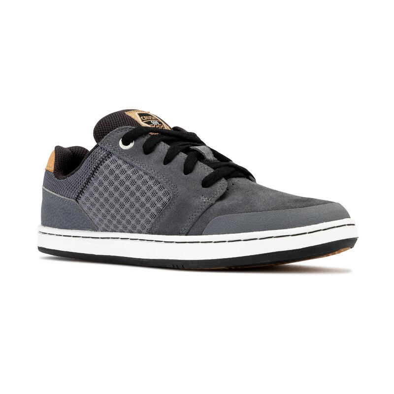 Chaussures basses de skateboard pour enfant CRUSH 500 grise et noire