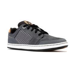 Scarpe basse skateboard CRUSH 500 bambino grigio-nero