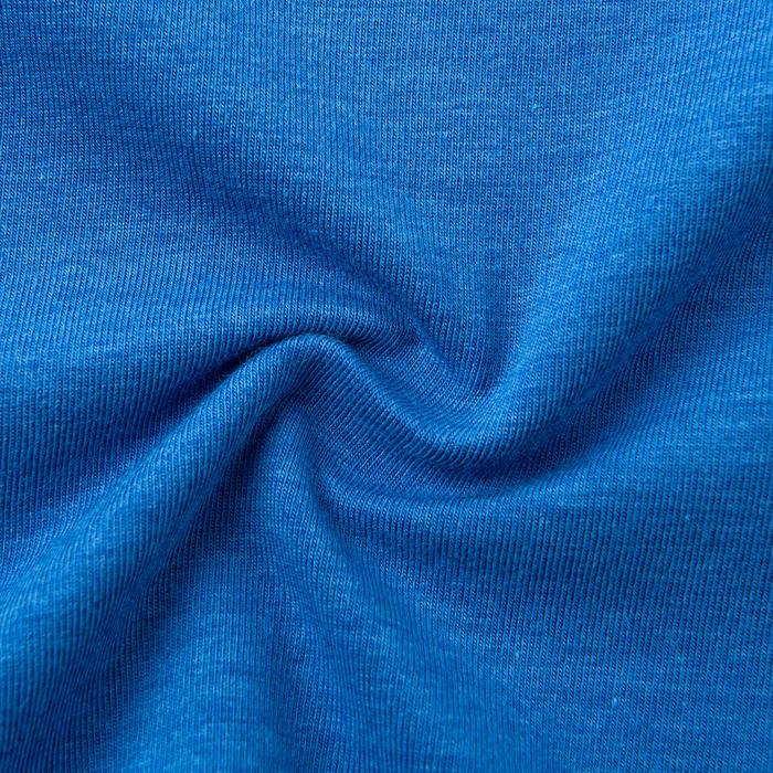 Boys' Breathable Cotton Long-Sleeved Gym T-Shirt 500 - Blue/Print