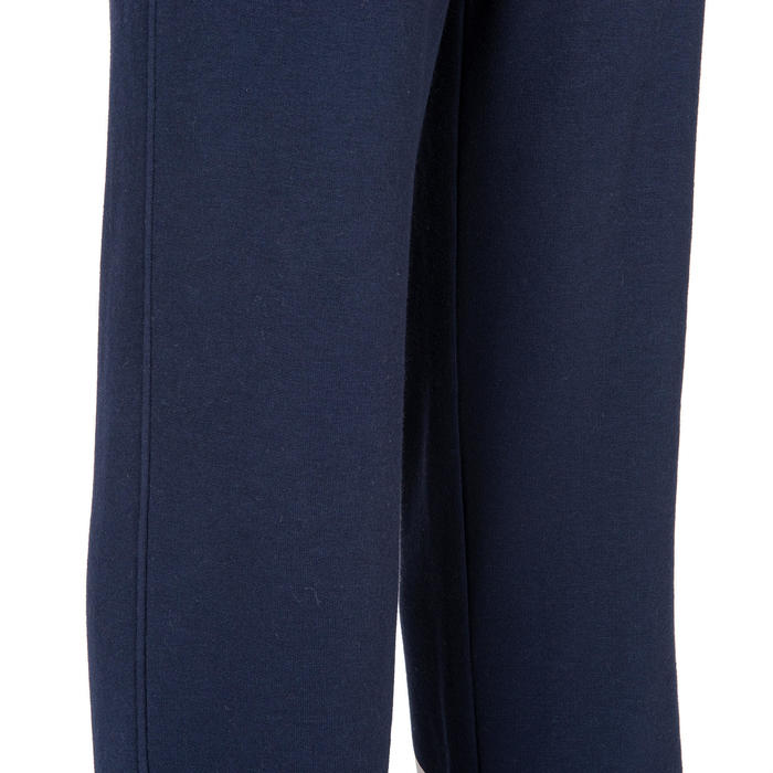 Boys' Gym Warm French Terry Bottoms 100 - Navy/Print