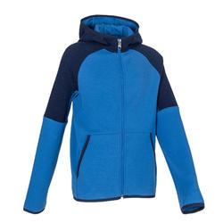 男童健身保暖透氣棉連帽外套500 - 藍色/軍藍色