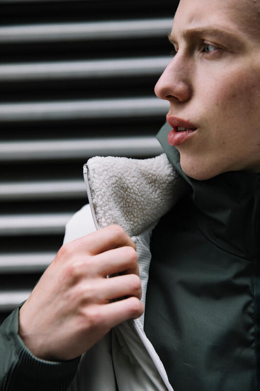 DOUDOUNE SANS MANCHES DE RUNNING HOMME KALENJI WARM + BEIGE FICELLE