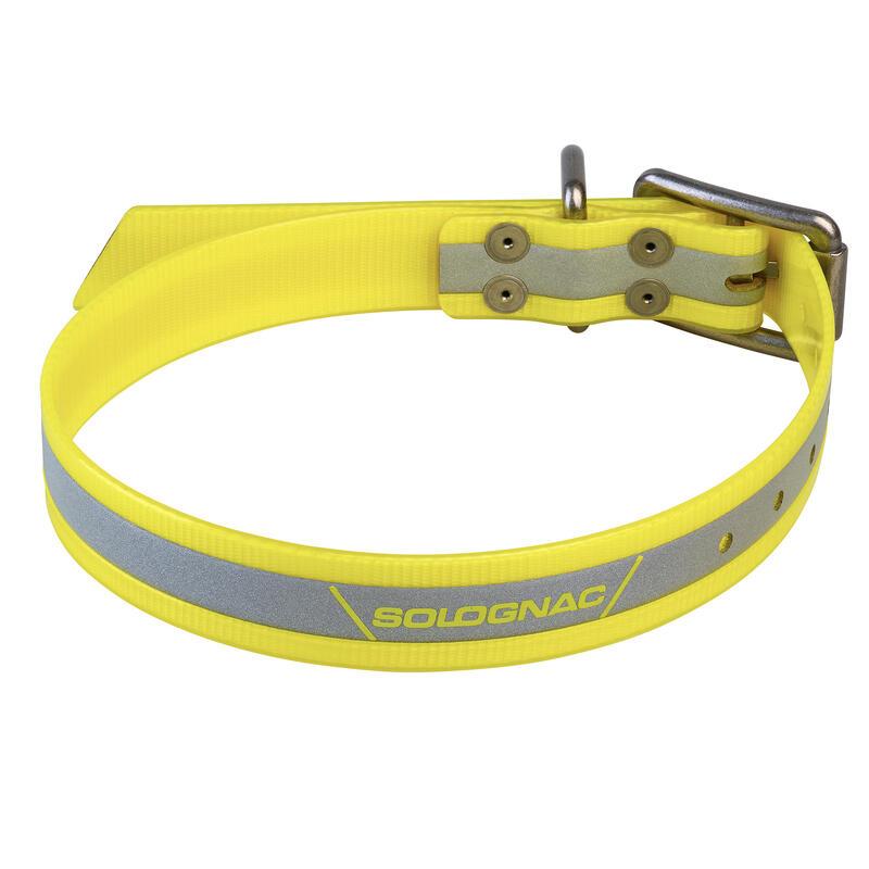 Reflecterende hondenhalsband 520 geel