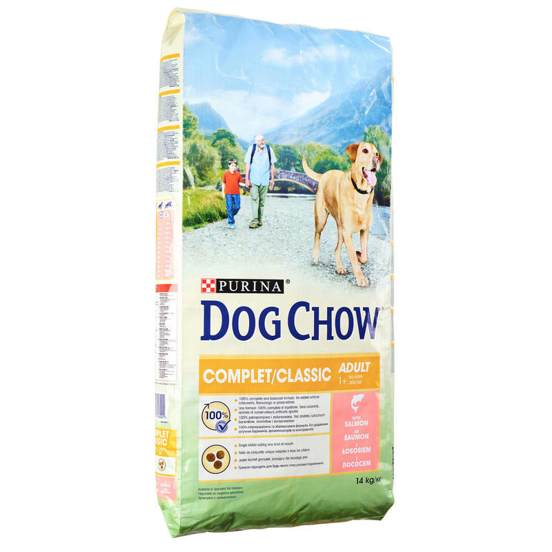 Pienso Perro Caza Purina Dog Chow Complet Classic Alimentacion Salmón 14 Kg