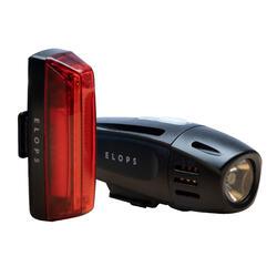 Fahrradbeleuchtung Set Front-/Rücklicht ST 920 LED USB 40 Lux schwarz