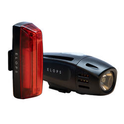 SET FIETSVERLICHTING OP LED ST 920 VOOR EN ACHTER USB