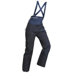 Pantaloni salopette sci freeride donna FR900 azzurri
