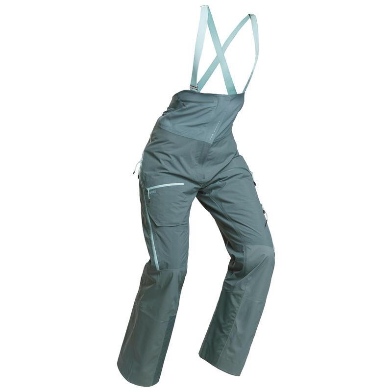 Pantalon salopette ski freeride femme Pant Ski FR900 F Vert