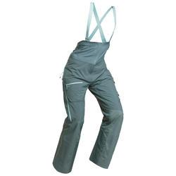 Pantaloni salopette sci freeride donna FR900 verdi