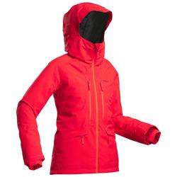 Chaqueta de Esquí Freeride y Nieve Mujer Wedze Ski FR500 Rojo