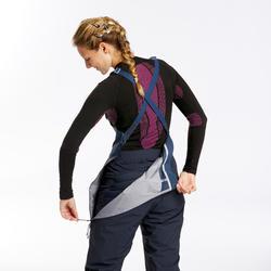 Skibroek met bretels voor dames freeride FR900 blauw