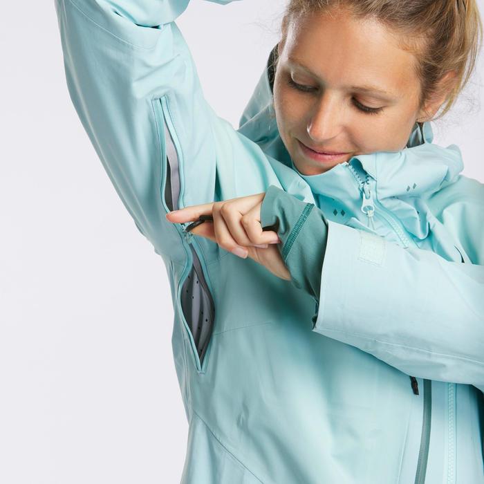 Veste de ski Freeride femme JKT SKI FR900 Verte