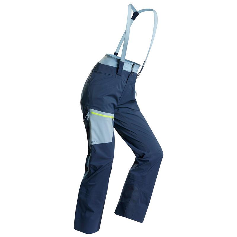 Pantalones de Esquí y Nieve Mujer Wedze Mountain Touring Travesía Tirantes Azul