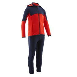 Trainingsanzug S500 Gym warm Synthetik atmungsaktiv Kinder marineblau/rot