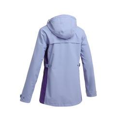 女款3合1防水舒適0°C旅遊健行外套TRAVEL 100-紫色