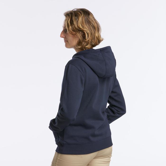 Camisola com capuz de caminhada na natureza - Garden Grove - Mulher Azul-escuro