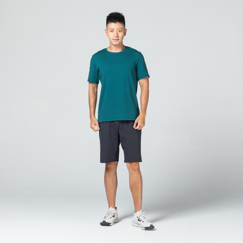 T-Shirt 500 Homme Turquoise