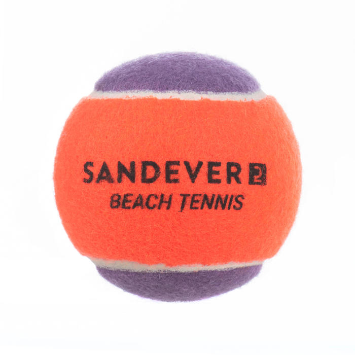 BALLE DE BEACH TENNIS BTB 900 S PURPLE X2