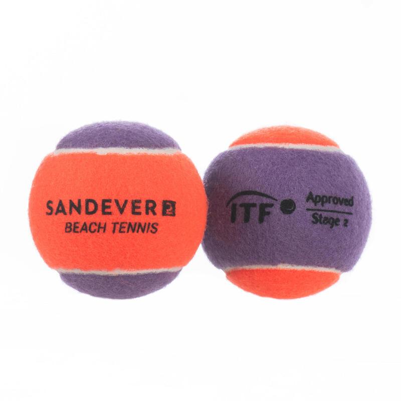 Set 2 Mingi Tenis pe Plajă BTB900 S Mov