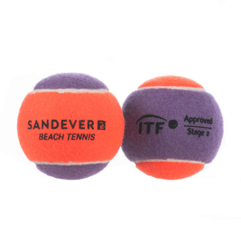 STRANDTENISZ Squash, padel - Strandtenisz labda BTB 900, 2  SANDEVER - Egyéb ütős sportok