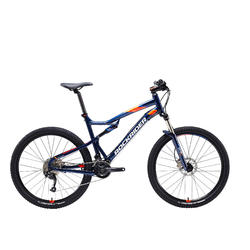 "Mountainbike full suspension ST 540 S 27.5"" 2x9 speed microshift/shimano blauw"