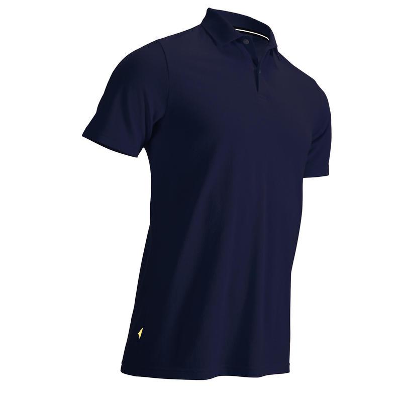 Men's golf short-sleeved polo shirt MW500 navy blue