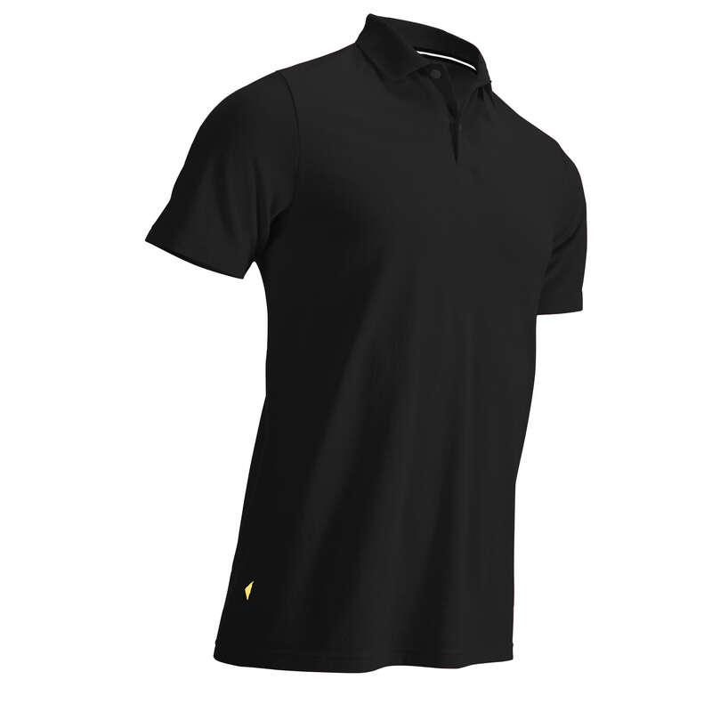 FÉRFI GOLFRUHÁZAT ENYHE ID#RE Golf - Férfi golfpóló MW500, fekete  INESIS - Golfruházat, Golf cipő, Golf kesztyű