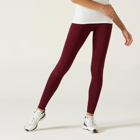 Legging Katun Fitness Fit+ - Burgundy Print