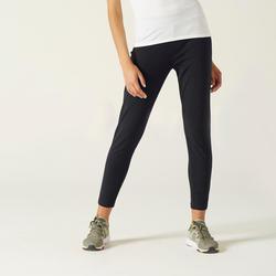 Pantalon jogging léger Fitness Coupe carotte Noir