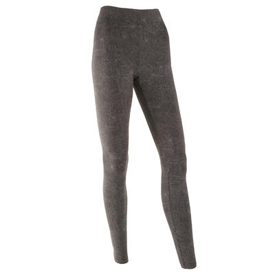 Fitness Cotton Leggings Fit+ - Grey Print